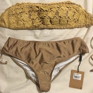 One Teaspoon Fleetwood Crochet Bikini NWT